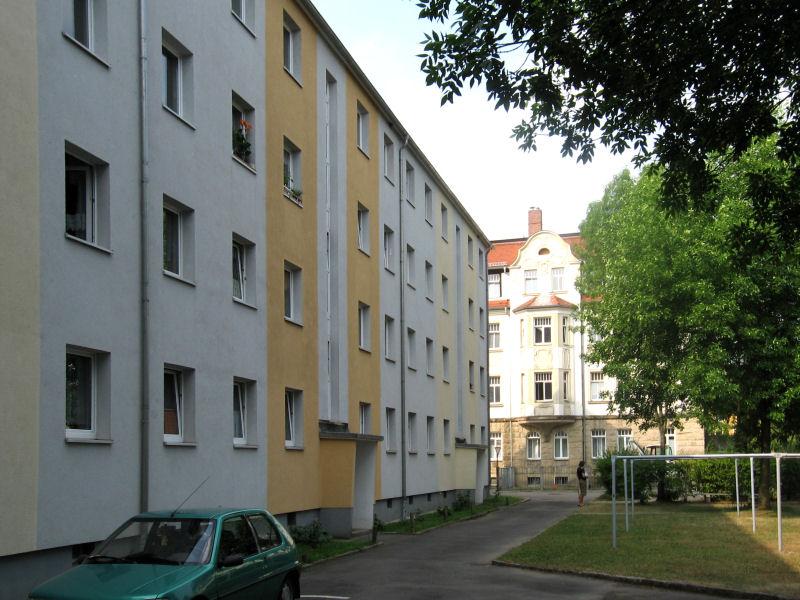 Krönertstraße 12, 14, 16, Freital-Deuben, Hofansicht
