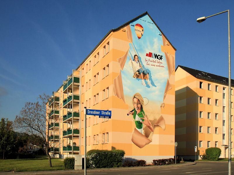 Dresdner Straße 264 a-c, Freital-Deuben, Giebelansicht