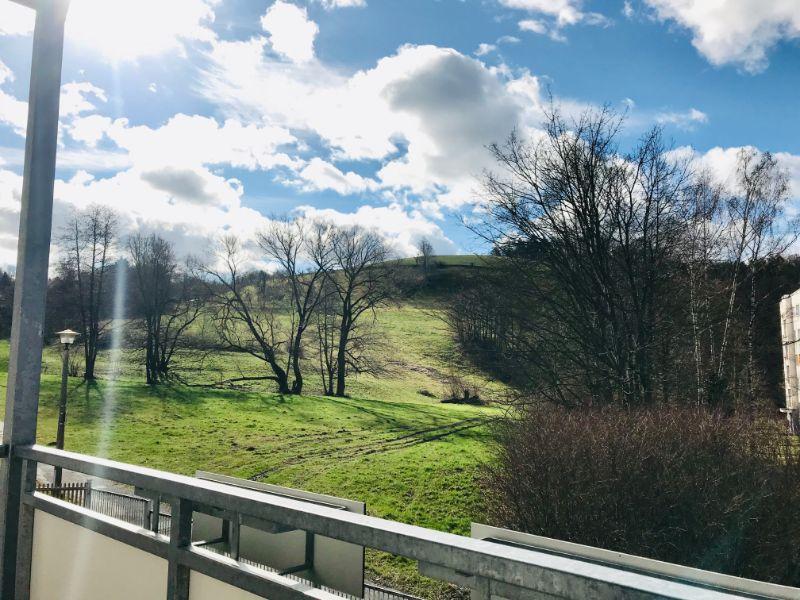 An der Kleinbahn 7, Freital-Hainsberg, Blick vom Balkon