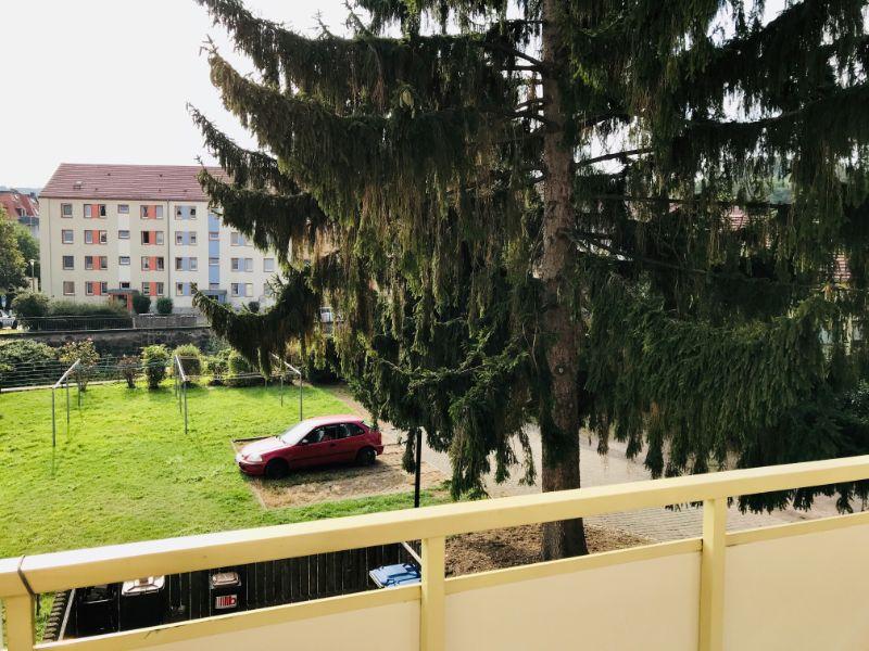 Dresdner Straße 57, Freital-Potschappel, Blick vom Balkon
