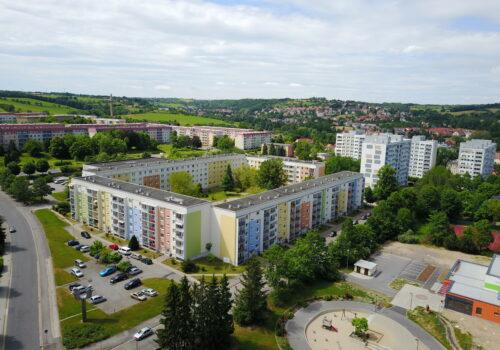 Freital-Zauckerode von oben, Foto: Ronny Börner, FRM TV