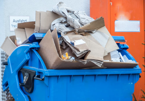 Papiercontainer Recycling, Foto: Adobe Stock