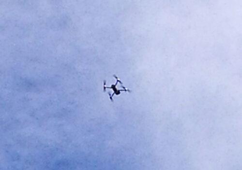 Drohne im Anflug, Foto: Wohnungsgesellschaft Freital mbH