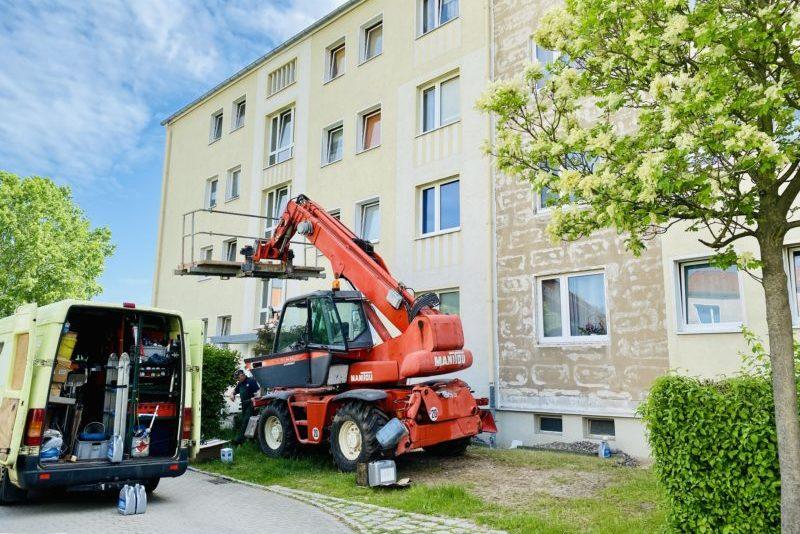 Balkonanbau - Schachtstraße in Freital-Döhlen, Wohnungsgesellschaft Freital mbH